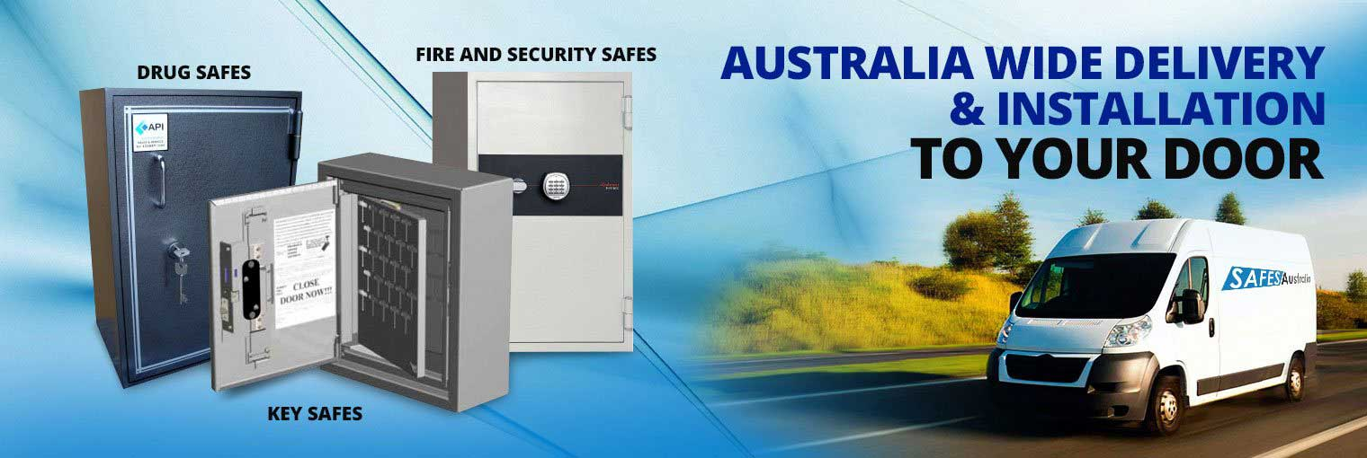 Drug safe, key safe, fire and security safes, Australia wide delivery and installation to your door